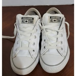 White Leather Chuck Taylors